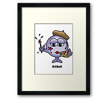 Art Ball Framed Print