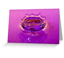 Water Drop Crown in Liquid Greeting Card
