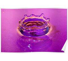 Water Drop Crown in Liquid Poster