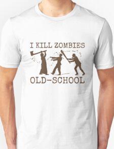 Funny Retro Old School Zombie Killer Hunter 2 T-Shirt