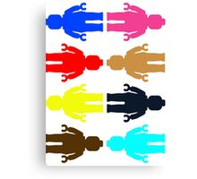 8 x Minifig Stickers  Canvas Print