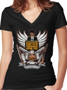 Pulp Heraldry Women's Fitted V-Neck T-Shirt