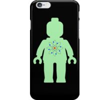 Minifig with Atom Symbol  iPhone Case/Skin