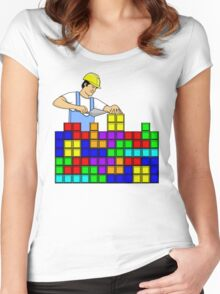 Brick Layer Women's Fitted Scoop T-Shirt