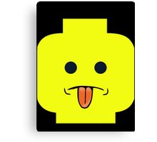 Rude Minifig Face Sticking Tongue Out  Canvas Print