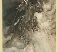 The Rhinegold & The Valkyrie by Richard Wagner art Arthur Rackham 1910 0012 Raging Wotan by wetdryvac