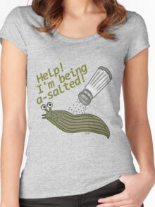 A Salted Slug Pun Funny Women's Fitted Scoop T-Shirt