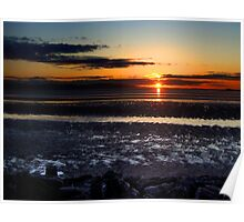 Hilbre Sunset Poster
