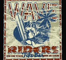 wave riders tiki bar by redboy