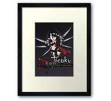 Elite Female Warrior Framed Print
