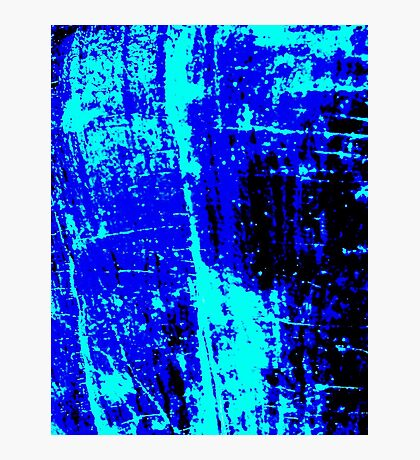 Blue Black Abstract Photographic Print