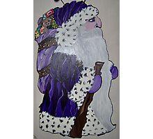 Purple Santa Photographic Print