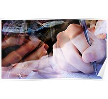 Hands in Motion - Imaginative Hands Poster