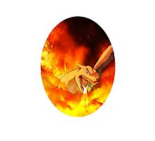 Flaming Charizard Photographic Print
