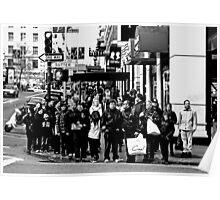 Crowded Corner Poster