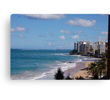 Puerto Rico beach Canvas Print