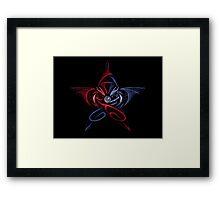 Pentagram Dragons Fighting Framed Print