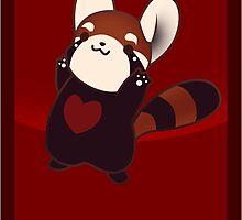 Kawaii Red Panda by zerojigoku