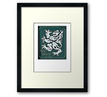 gothic lion Framed Print