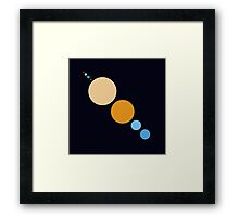 Planets To Scale (diagonal) Framed Print