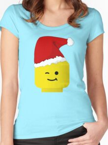 Santa Minifig by Customize My Minifig Women's Fitted Scoop T-Shirt