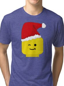 Santa Minifig by Customize My Minifig Tri-blend T-Shirt
