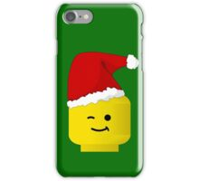 Santa Minifig by Customize My Minifig iPhone Case/Skin