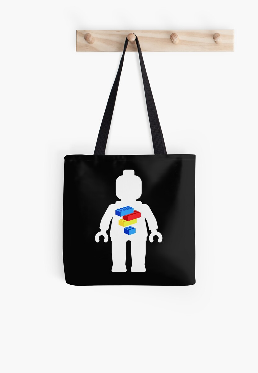 White Minifig with Bricks Logo by Customize My Minifig by Customize My Minifig