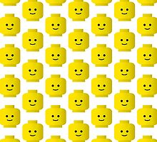 Smiley Minifig Head by Customize My Minifig by Customize My Minifig