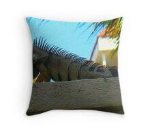 Monster Iguana Throw Pillow