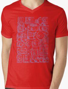 Paparazzi Blue Mens V-Neck T-Shirt
