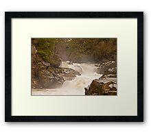 Frothy Granite Falls (Washington State) Framed Print