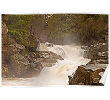 Frothy Granite Falls (Washington State) Poster