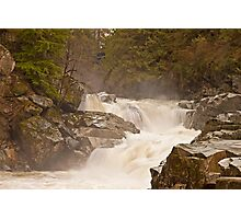 Frothy Granite Falls (Washington State) Photographic Print