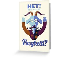 Pasghetti Greeting Card