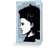 Lisbeth Salander Razor Blade Greeting Card
