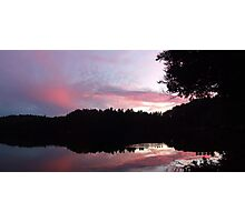 Sunset over Lac Corbeau Photographic Print