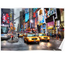 Times Square Tilt & Shift Poster