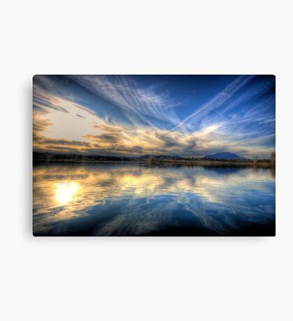Sky meets Lake Canvas Print