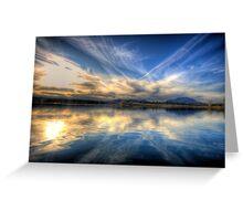 Sky meets Lake Greeting Card