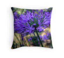 Blue Agapanthus Throw Pillow