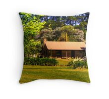 Lavender Fields Cottage, front on Throw Pillow