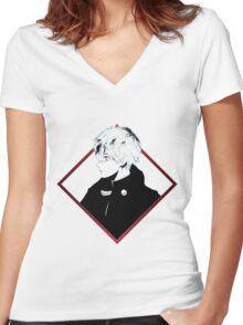 Kaneki Women's Fitted V-Neck T-Shirt
