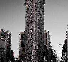 NYC - Yellow Cab & The Flatiron by Spoungeworthy