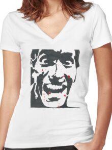 Ash, Evil Dead Women's Fitted V-Neck T-Shirt