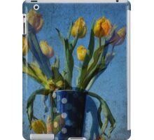 Yellow tulips with polka dots iPad Case/Skin