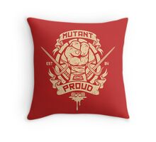 Mutant and Proud! (Raph) Throw Pillow