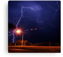 Crazy times on the highway Canvas Print