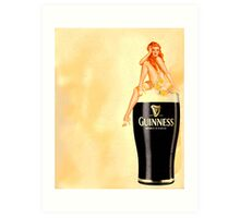 irish stout pinup girl Art Print
