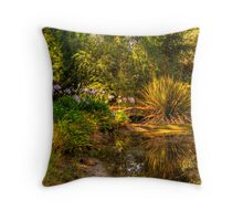 The bridge at Lavender Fields Cottage Throw Pillow